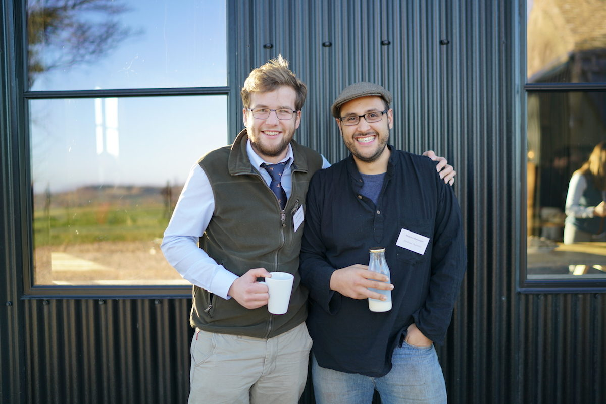 Andrew Brewster from Brewster Cattle Co and Muhsen Hassanin from Abraham Organics